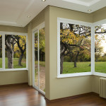 modern solid glass panes clear