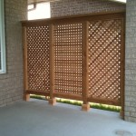 Custom cedar privacy fence